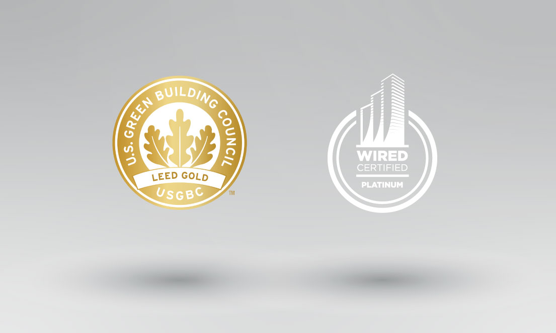 LEED Certified Gold and WIRED Certified Platinum