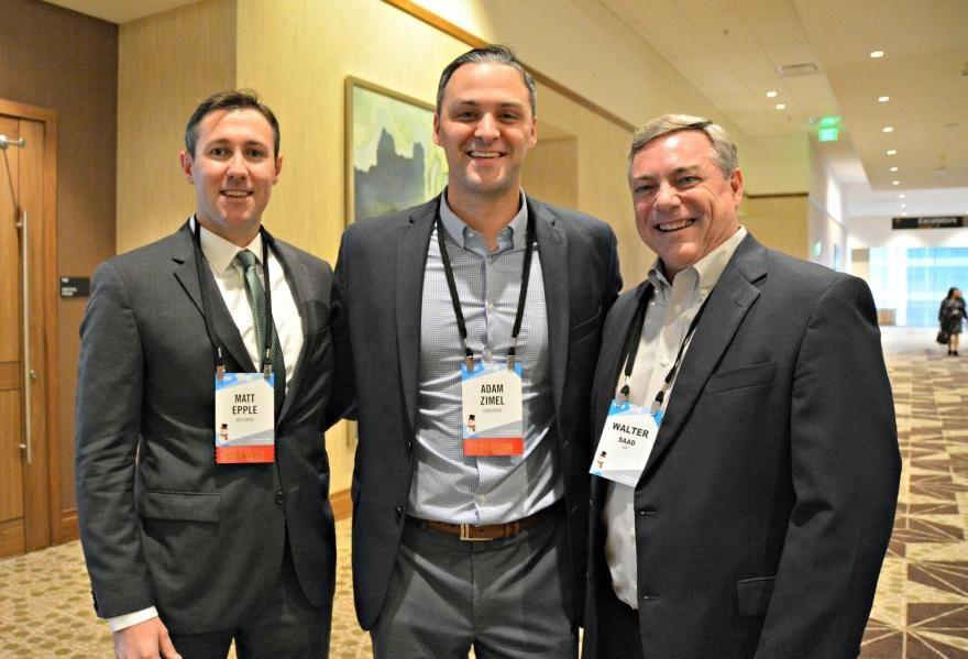Weitzman SVP Matt Epple, Endeavor VP of leasing Adam Zimel and HFF's Walter Saad