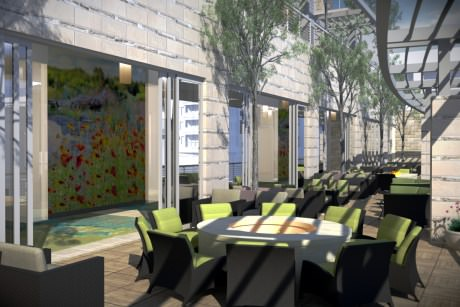 Second Bar and Kitchen will open Aug. 30 inside new Archer Hotel Austin. - Rendering courtesy of Second Bar and Kitchen