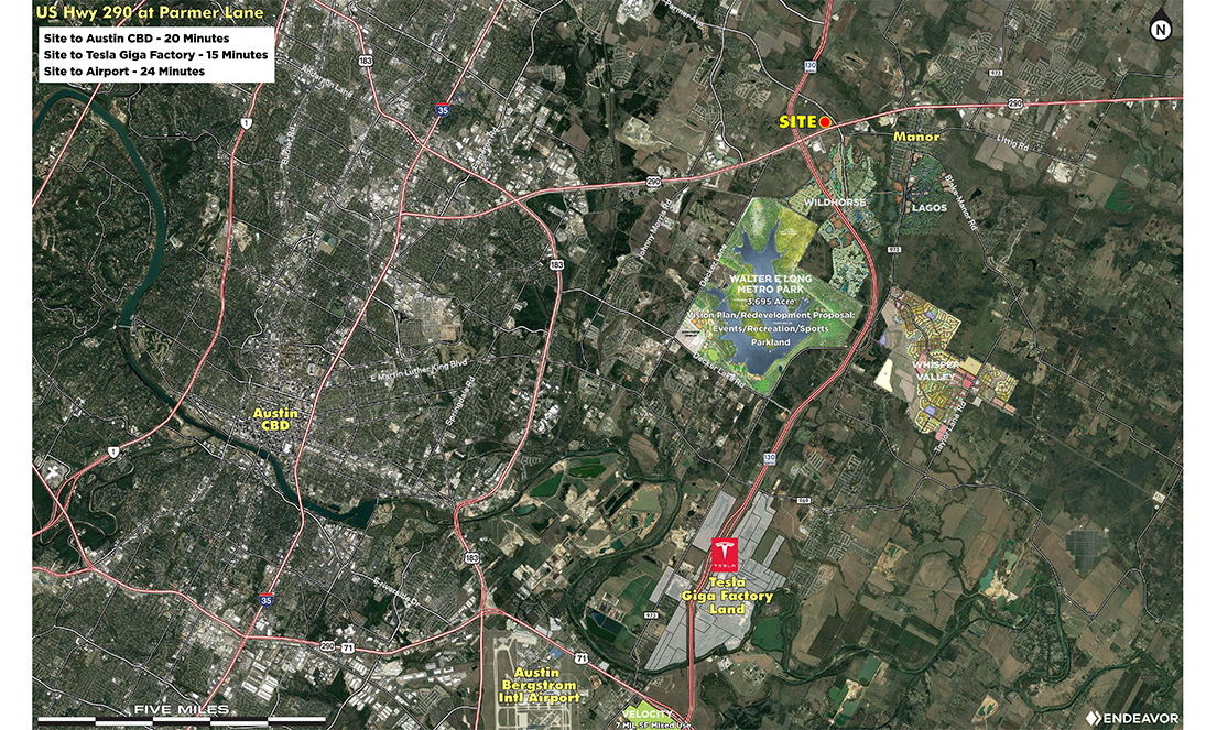 Pads at Parmer and HWy-290 Area Development Vertical Aerial