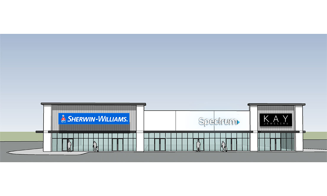 Endeavor Real Estate Group Front Face Rendering for Central Texas Marketplace in Waco, TX
