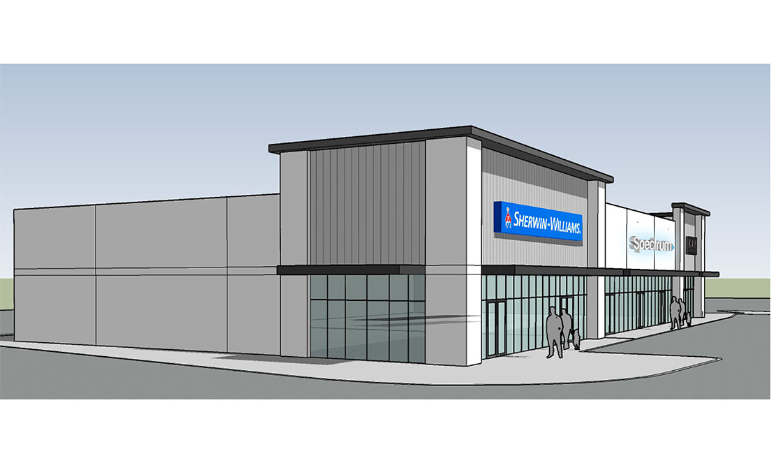 Endeavor Real Estate Group East Face Rendering for Central Texas Marketplace in Waco, TX