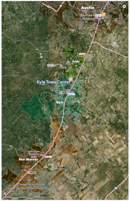 Map Of Texas Kyle.Kyle Town Center Properties Endeavor Real Estate Group
