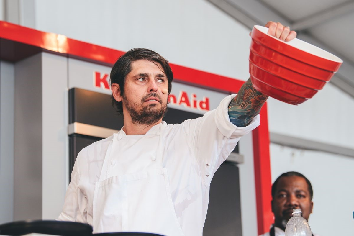 Ludo Lefevbre at Austin Food and Wine Festival earlier this year - Roger Ho