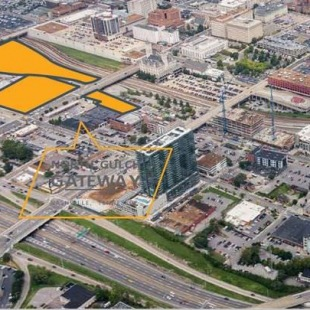The yellow area shows the Tennessean property. (Photo: CBRE)