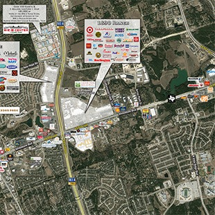 Endeavor Real Estate Group 1890 Ranch Vicinity Restaurants and Retailers Aerial