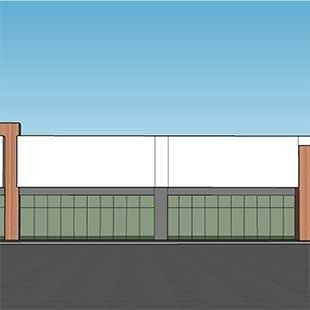 Front View Rendering of Multitenant Building
