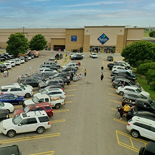 Exterior of Sam's Club at Red Oak Village in San Marcos, TX