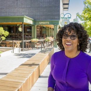 AJ Jemison Coffee, general manager for Endeavor Real Estate Group, oversees the company's retail development at Domain Northside and Rock Rose. She said that if she could be friends with one celebrity, it would be Michelle Obama. - Arnold Wells/Staff