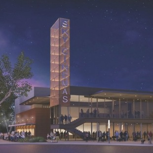 Sky Cinemas is scheduled to open fall 2017. Rendering courtesy of Douglas Payne, AIA with Domiteaux   Baggett Architects