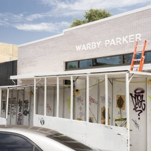 Construction on the Warby Parker location on South Congress Avenue in late July. It is expected to open Aug. 27. The eyewear retailer also plans another Austin store at Domain Northside. - Arnold Wells/Staff